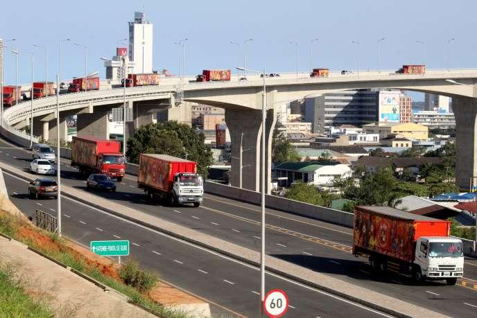 Le pont Maputo-Katembe récemment inauguré au Mozambique, en novembre 2018.