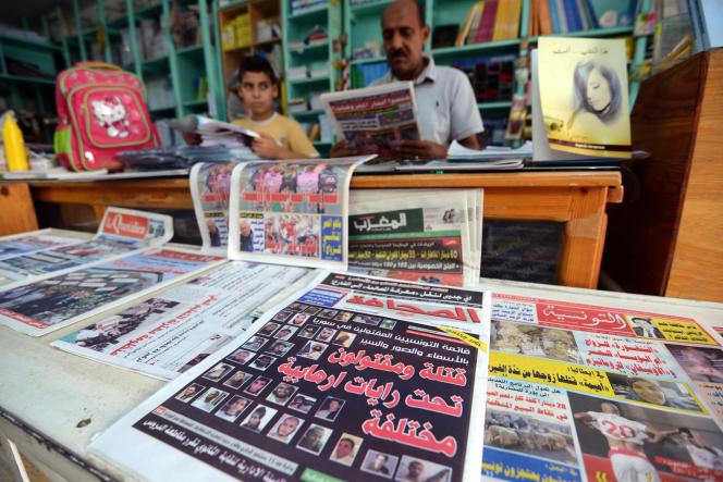 Un marchand de journaux à Tunis, en septembre 2015.
