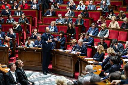 Le premier ministre, Edouard Philippe, lors des questions au gouvernement, le 20 novembre.