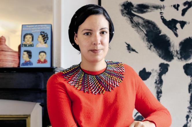 Marie-Cécile Zinsou chez elle à Paris, le 16 novembre.