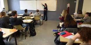Dans un lycée de Bordeaux, en mars 2017.