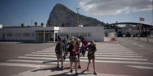 A la frontière entre l'Espagne et Gibraltar, en 2017.