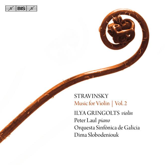 Pochette de l'album«L'Œuvre pour violon», consacré à IgorStravinsky.