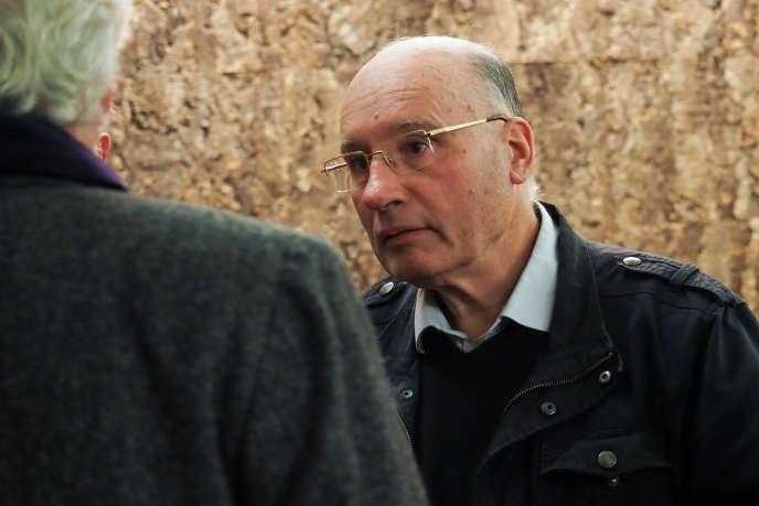 L'abbé Pierre de Castelet, le 30 octobre 2018, au tribunal correctionel d'Orléans.