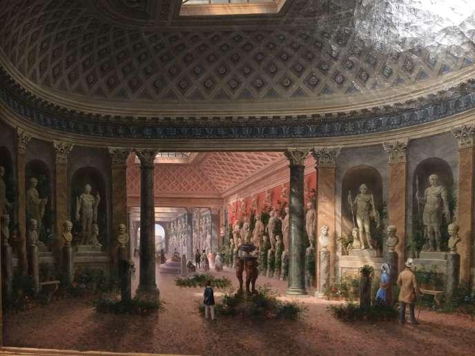 La Galerie des sculptures de la villa Campana au Latran, à Rome.