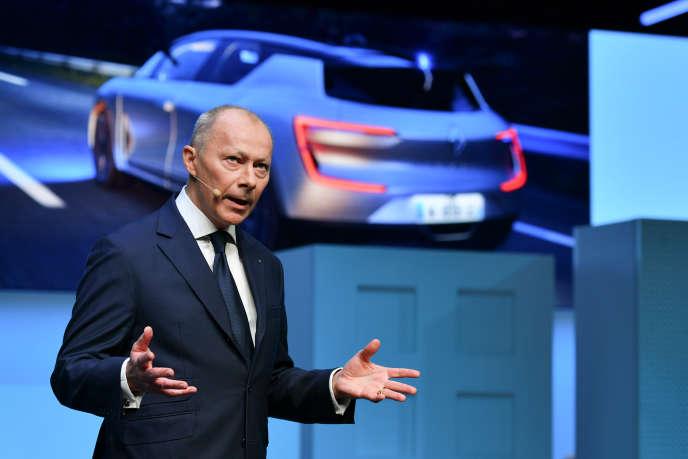 Thierry Bolloré (ici à Genève, en mars) vient d'être nommé par le conseil d'administration de Renault directeur général délégué de l'entreprise à titre provisoire « disposant des mêmes pouvoirs » que Carlos Ghosn.