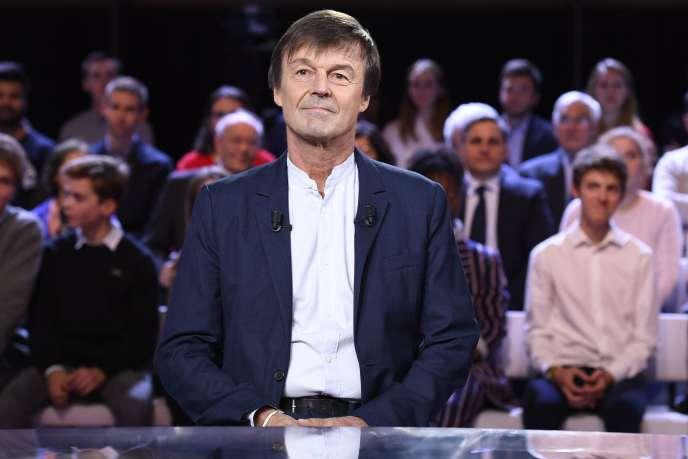 Nicolas Hulot le 22novembre sur le plateau de France 2.