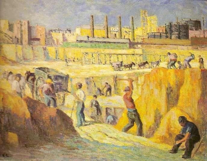 «Percement de l'avenue Junot à Montmartre» (1910), par Maximilien Luce.