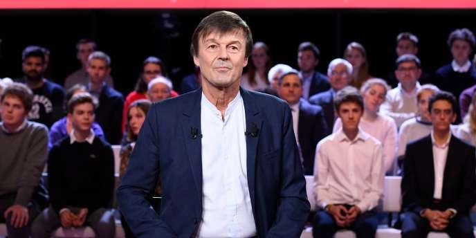 L'ancien ministre de la transition écologique Nicolas Hulot sur le plateau de
