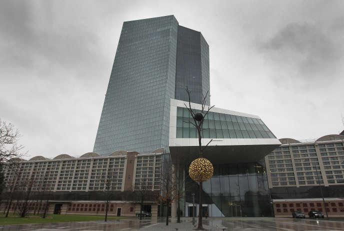 Le siège de la Banque centrale européenne (BCE), à Francfort-sur-le-Main, en janvier.