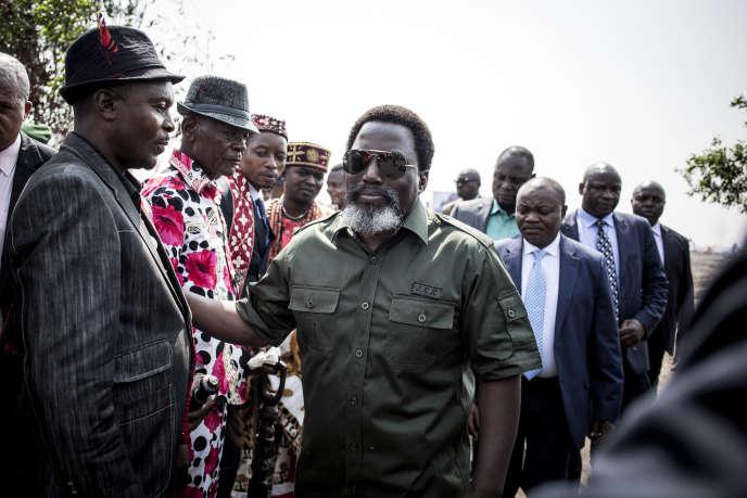 Le président de la République démocratique du Congo, Joseph Kabila, à Kinshasa, le 30 septembre 2018.
