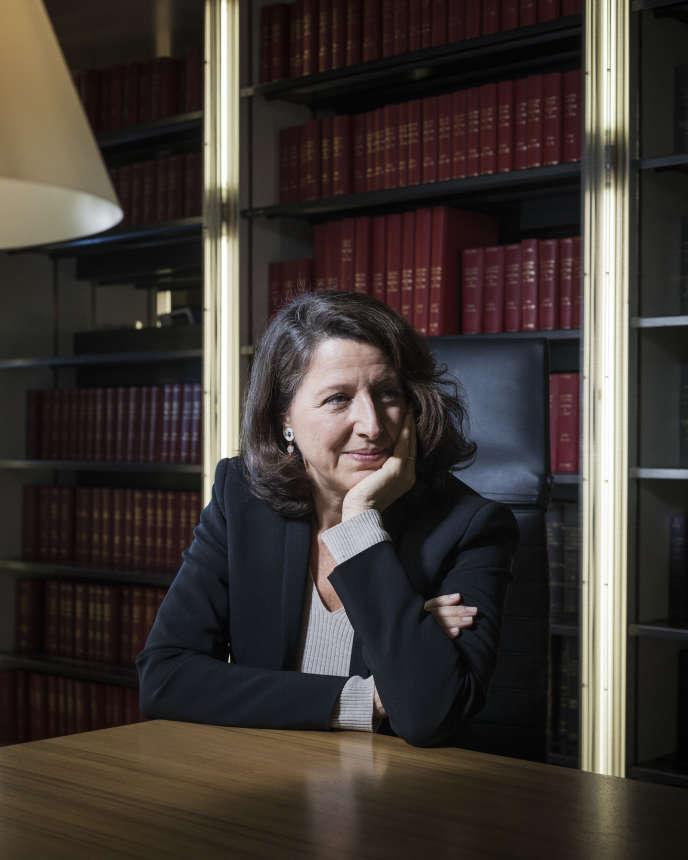 Agnès Buzyn, ministre de la santé et des solidarités, à Paris, le 21 novembre.
