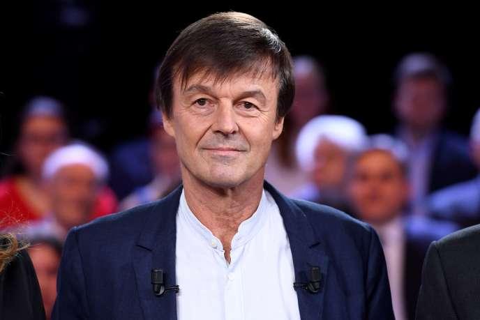 Nicolas Hulot lors de «L'émission politique», le 22 novembre 2018 sur le plateau de France 2.