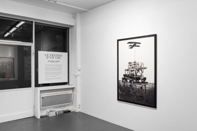 Vue de l'exposition« Le Vestige d'un vol», de Jean-Marc Cerino, à la Galerie Vincent Sator (Paris 3e).