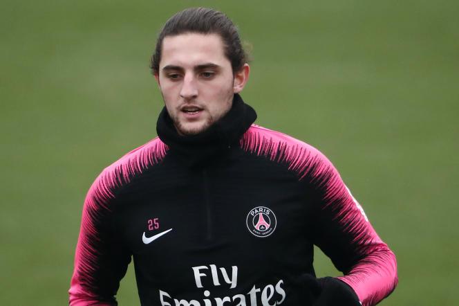 Adrien Rabiot, le 23 novembre, à Saint-Germain-en-Laye (Yvelines).