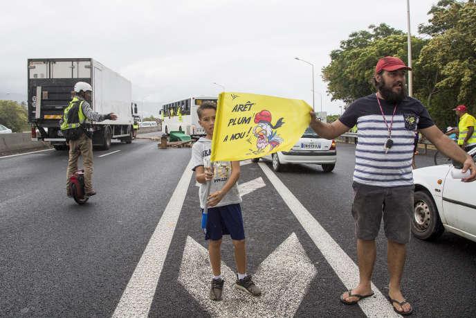 Blocage à l'est de l'île de La Réunion, le 24 novembre.