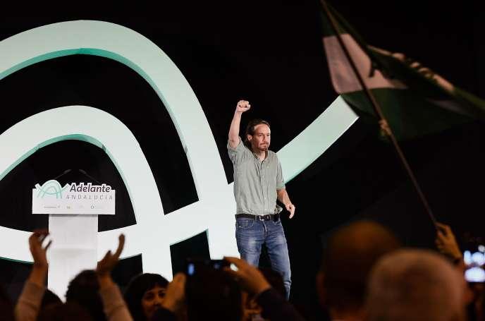 Pablo Iglesias, le secrétaire général de la formation de gauche radicale Podemos,à Séville, en Espagne,le 2 décembre.
