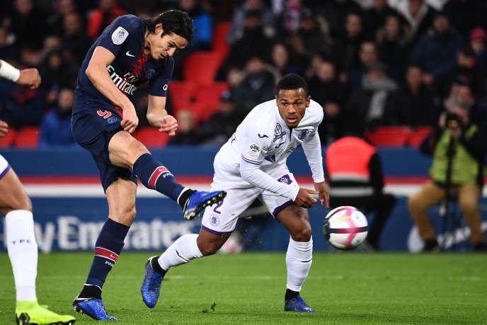 Edinson Cavani a inscrit en début de rencontre l'unique but du PSG contre Toulouse.
