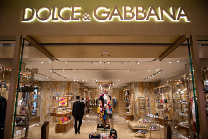 Magasin Dolce & Gabbana, à Pékin, le 22 novembre.