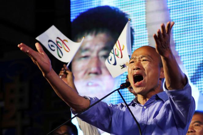Han Kuo-yu, outsider du KMT (parti nationaliste chinois), a remporté la mairie de Kaohsiung à l'issue d'une campagne populiste.