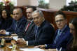 Le premier ministre israélien Benyamin Netanyahou (au centre), lors d'une réunion ministérielle, le 25 novembre 2018.