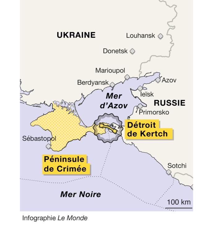 Infographie du détroit de Kertch