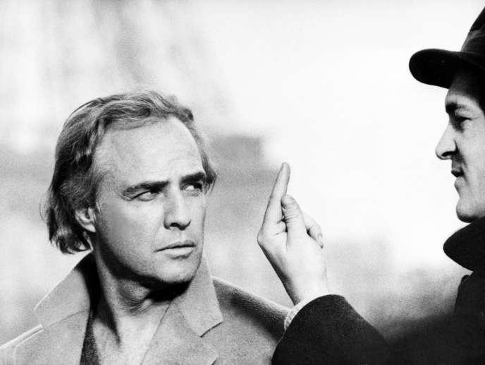 Avec Marlon Brando en 1972.