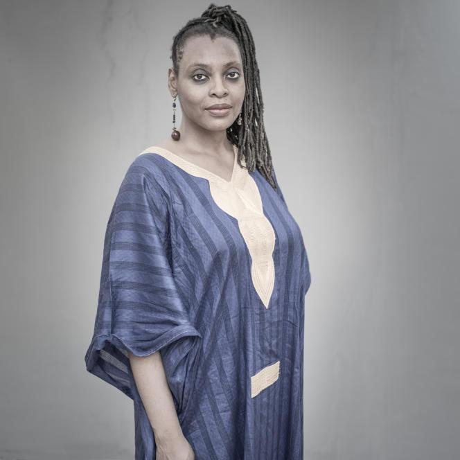 L'auteure camerounaise Léonora Miano, à Dakar 2016.
