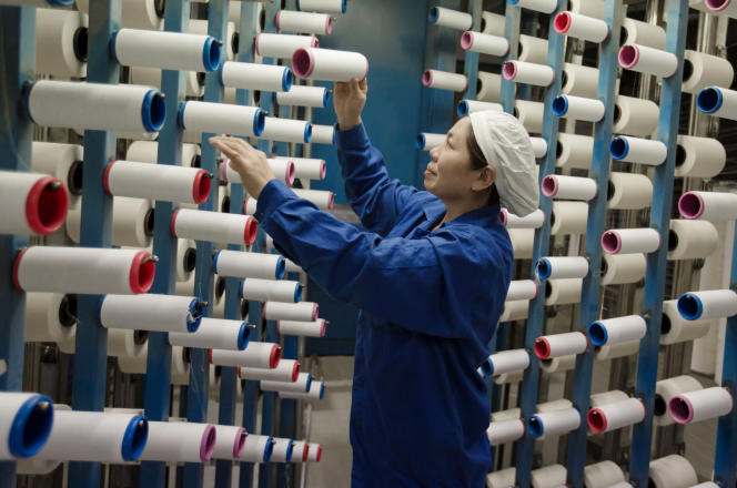 Dans une usine textile chinoise.