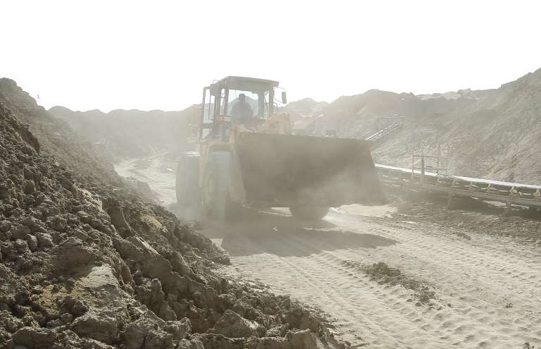 Une mine de phosphate en Tunisie, en 2012.