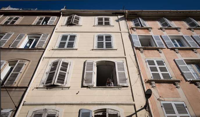 Immeubles de la rue d'Aubagne, à Marseille.