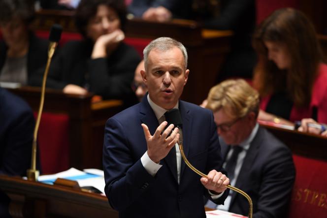 François de Rugy, le ministre de la transition écologique et solidaire, à l'Assemblée nationale, le 27 novembre.