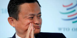 Le co-fondateur et président exécutif du groupe Alibaba, Jack Ma, au forum «Trade 2030» de l'Organisation mondiale du commerce (OMC) à Genève, en Suisse, le 2 octobre.
