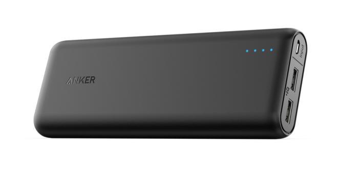 L'Anker powercore 20100 dispose d'un petit témoin lumineux qui informe sur le niveau de charge.