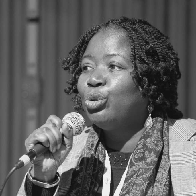 Tanella Boni, philosophe, romancière et poétesse ivoirienne, en 2012 au salon du livre de Genève.