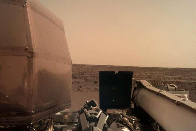 Une photographie de Mars transmise par la sonde InSight, le 26 novembre.