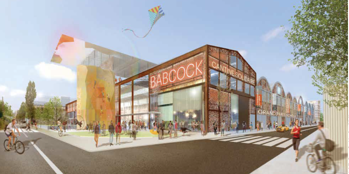Vue d'architecte duprojet de reconversion de l'usine Babcock.
