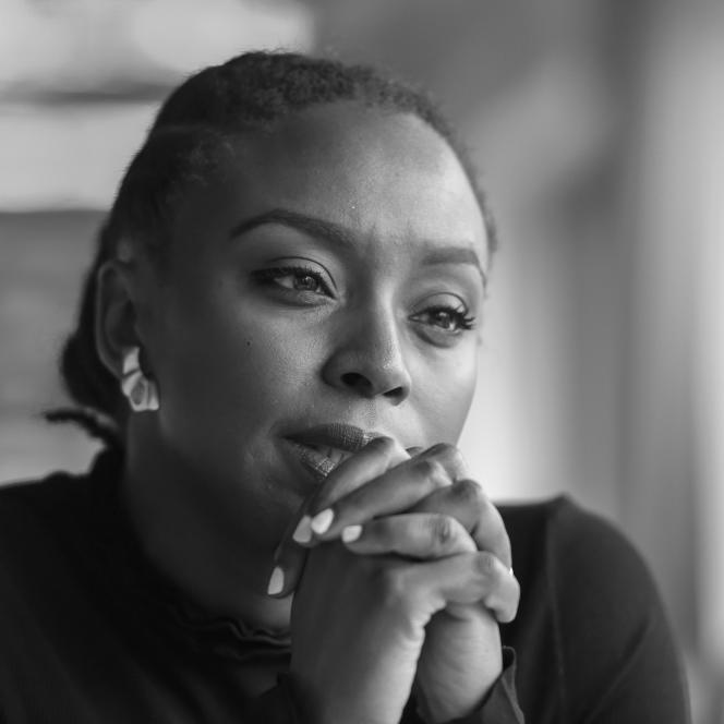 Chimamanda Ngozi Adichie, écrivainenigériane, à Paris en janvier2018.