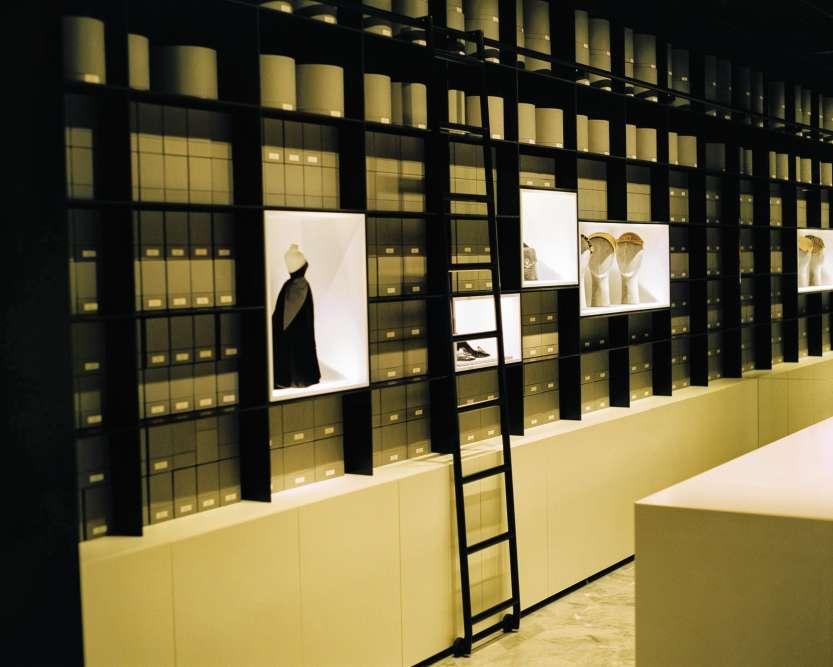 La salle des accessoires.