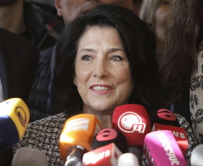 La nouvelle présidente géorgienne, Salomé Zourabichvili, le 28 novembre.