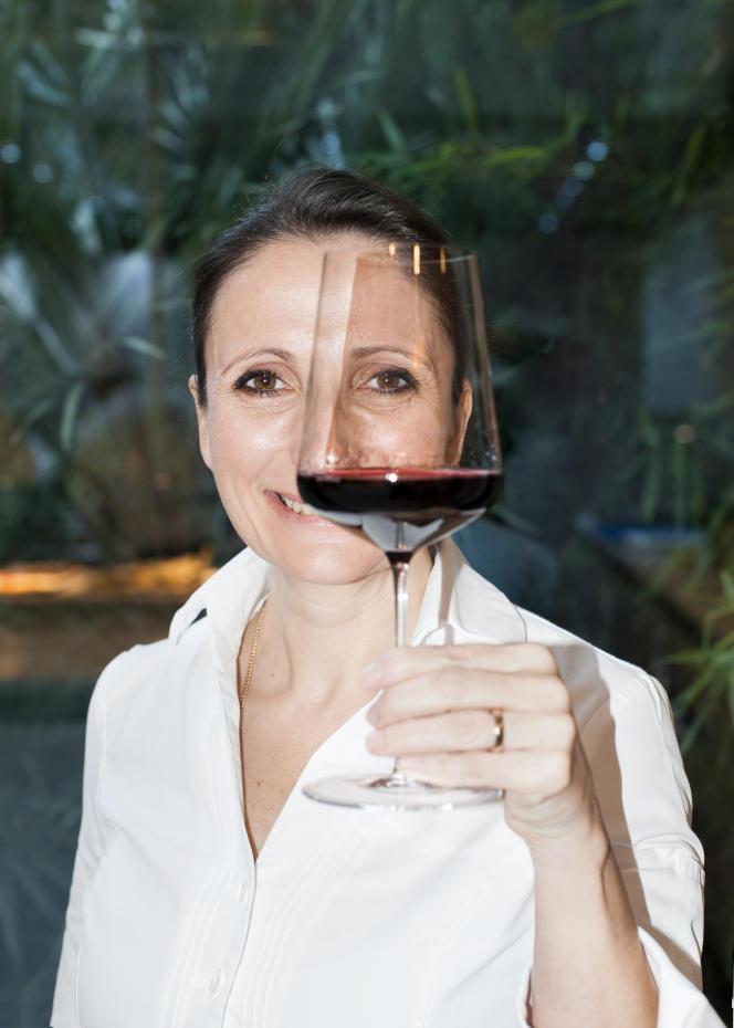 Anne-Sophie Pic dans son restaurant à Valence (Drôme), le 28 novembre.