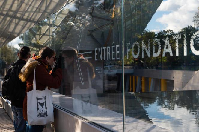 Fondation Louis Vuitton, le 2 novembre, à Paris.