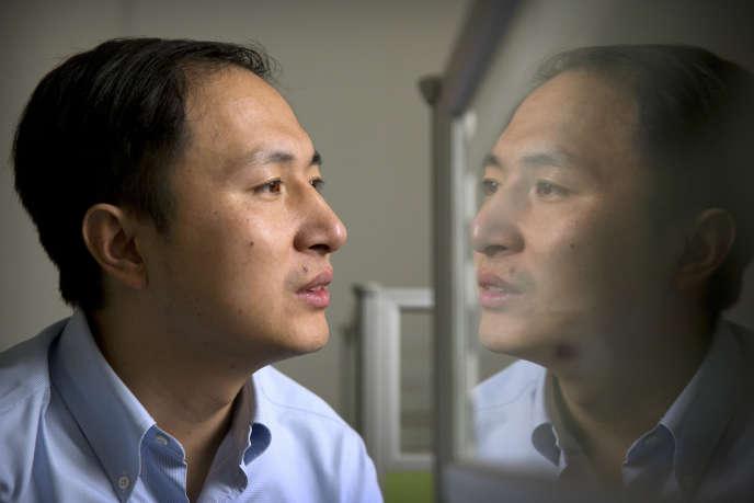 He Jiankui dans son laboratoire de Shenzhen en octobre.