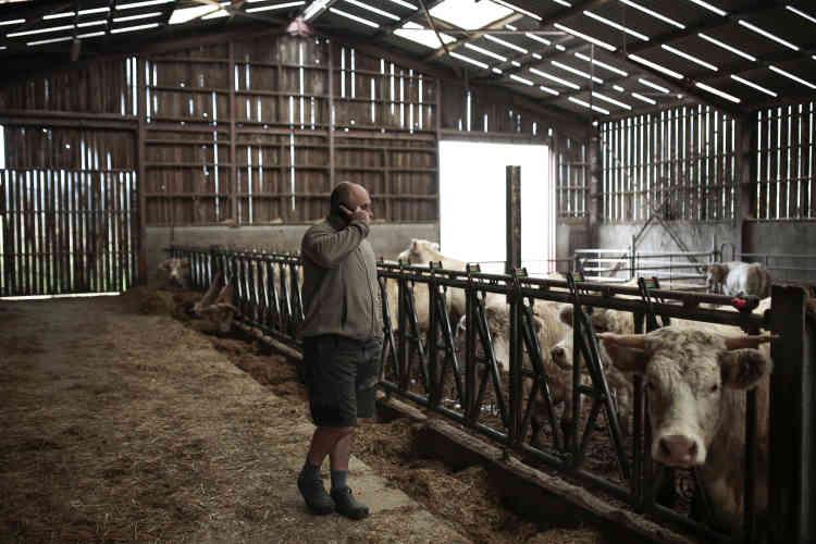 Les commandes de la cantine représentent environ 5 % du chiffre d'affaires de la ferme de Chassignol. Les trois associés réalisent le gros de leur vente au magasin de producteurs Grains de ferme, à la Tour-de-Salvagny.