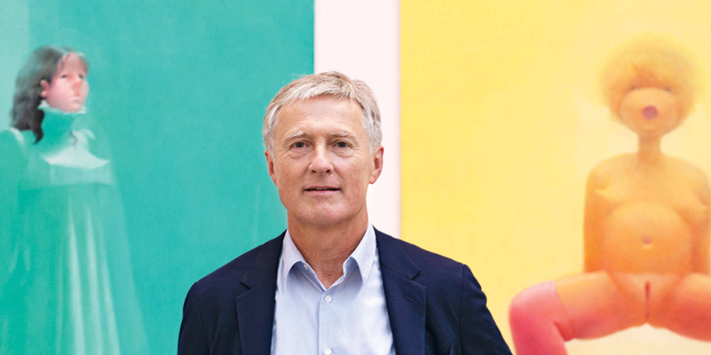 David Zwirner dans sa galerie new-yorkaise.