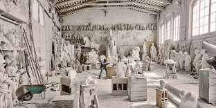 Les ateliersNicoli, à Carrare, accueillentde nombreux sculpteurs.