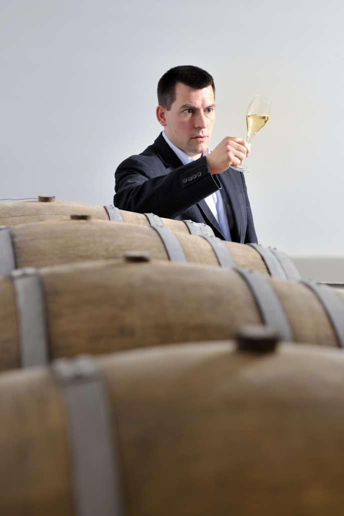 Paul-Vincent Ariston, vigneron propriétaire du domaine Aspasie, à Brouillet (Marne).