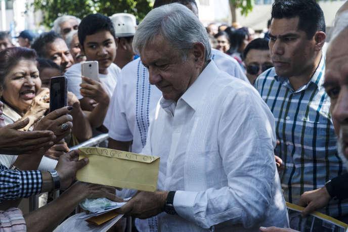 Andres Manuel Lopez Obrador, le président élu du Mexique, à Tepic, le 16 septembre.