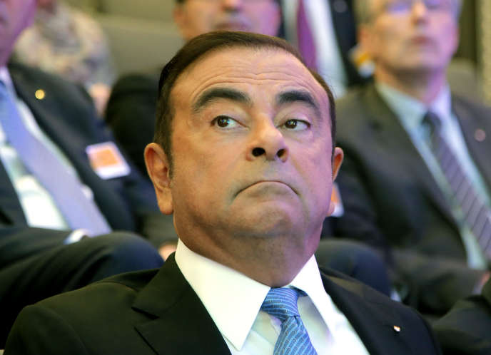 Carlos Ghosn à Paris, en octobre 2017.