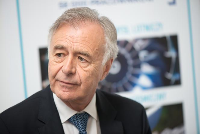 Le directeur général de Safran, Philippe Petitcolin, à Sedziszow Malopolski (Pologne), en juillet.